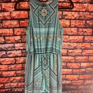 New York and Co Romper Overlay Maxi Dress